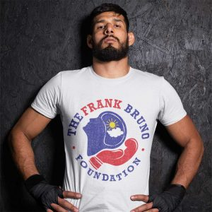 Frank Bruno Foundation Large Circle Logo Print White T-Shirt