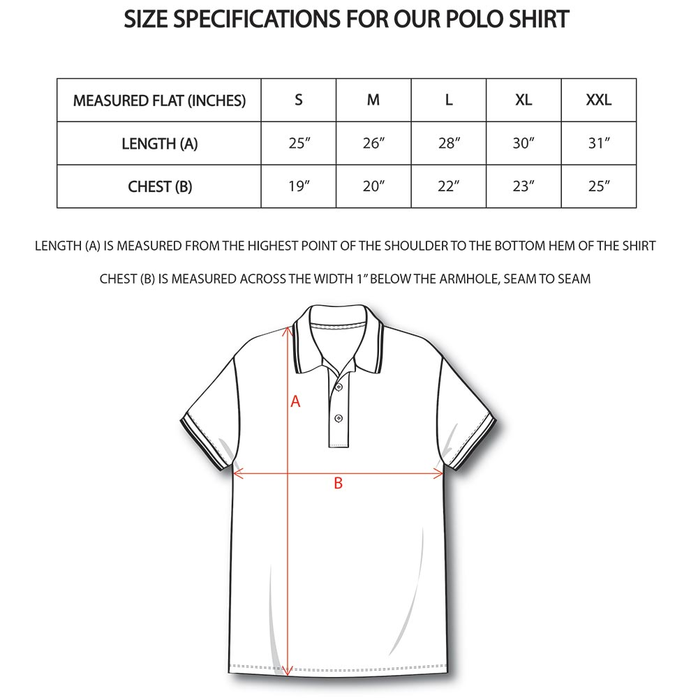Polo Shirt Size Guide